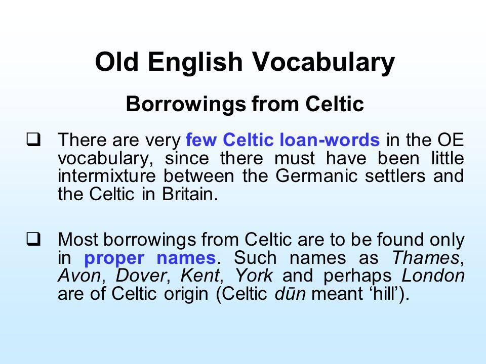 Old English Vocabulary