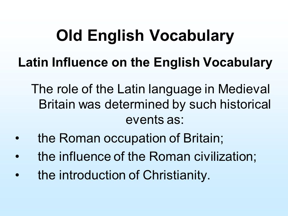 greek and latin influence on english language