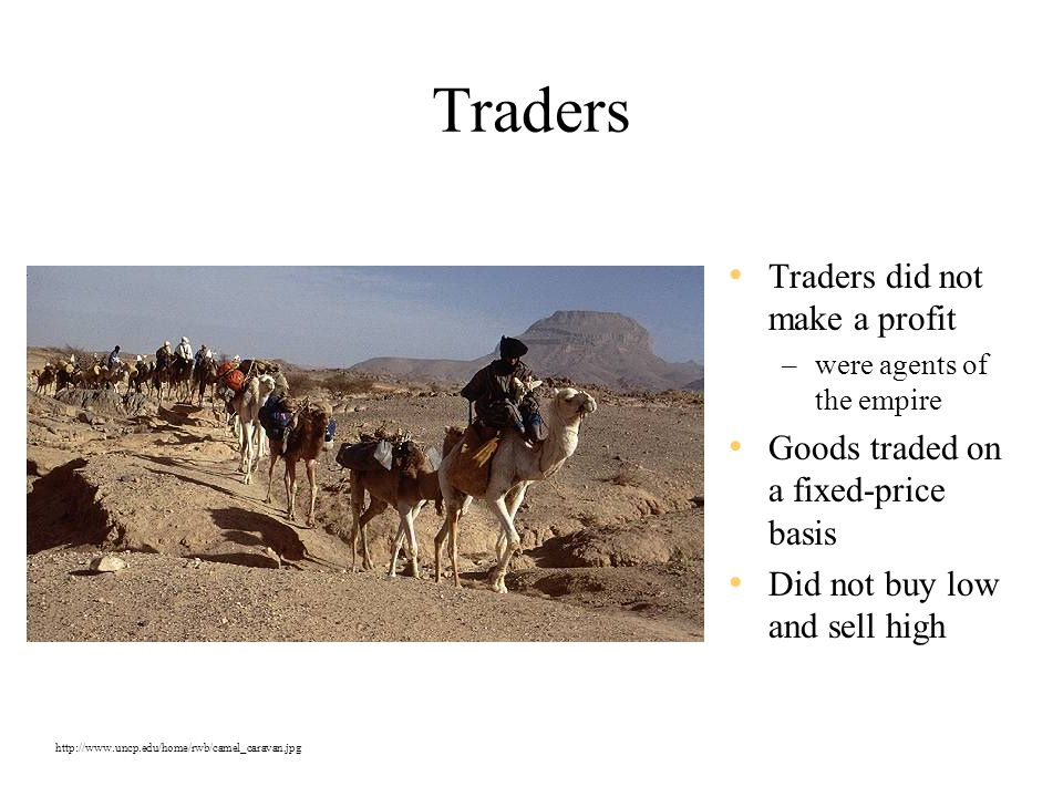 Traders Traders did not make a profit