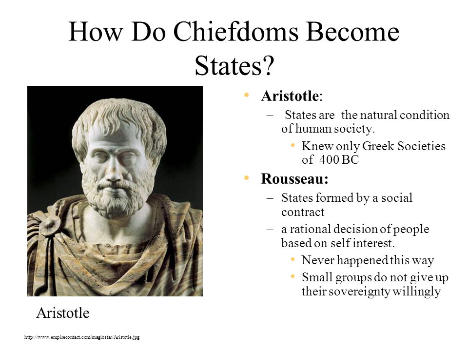 How Do Chiefdoms Become States