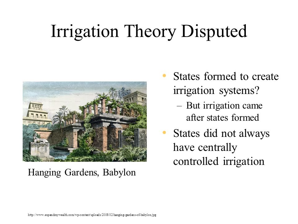 Irrigation Theory Disputed