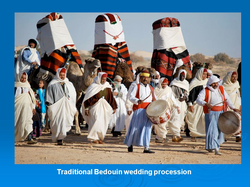 Traditional Bedouin wedding procession