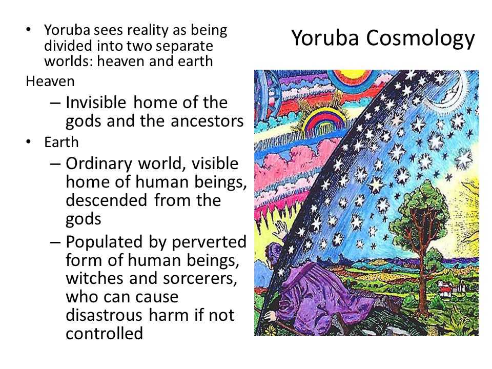 Yoruba Cosmology Invisible home of the gods and the ancestors