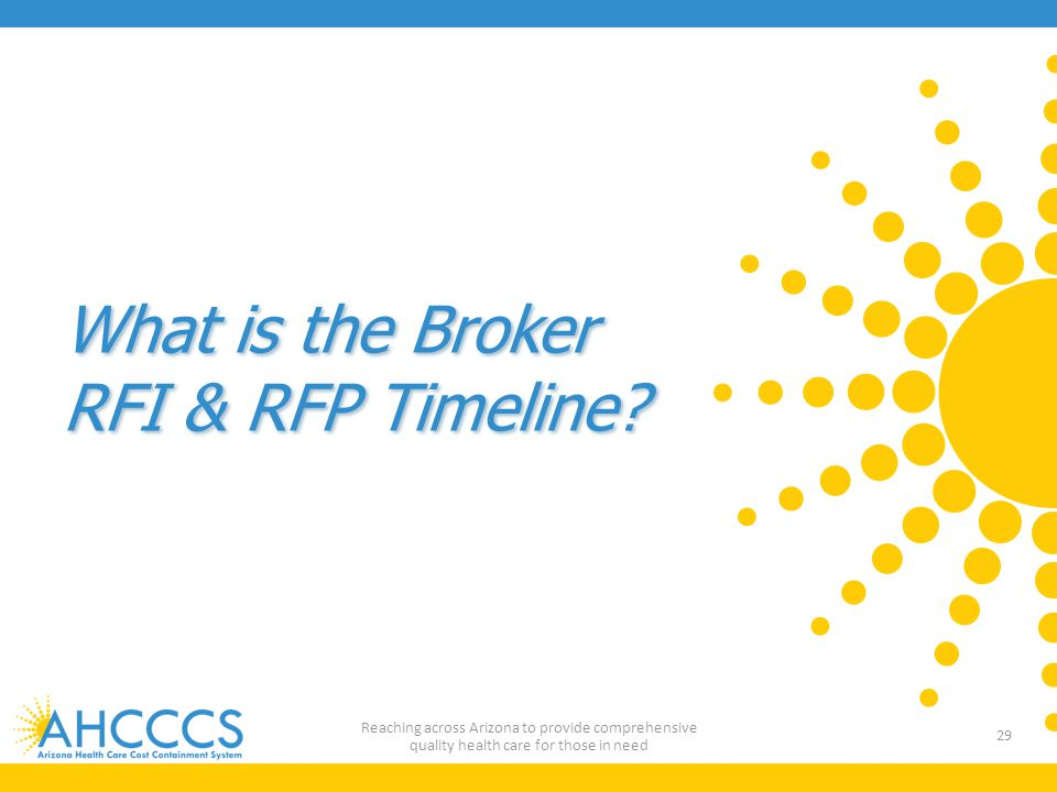 What is the Broker RFI & RFP Timeline