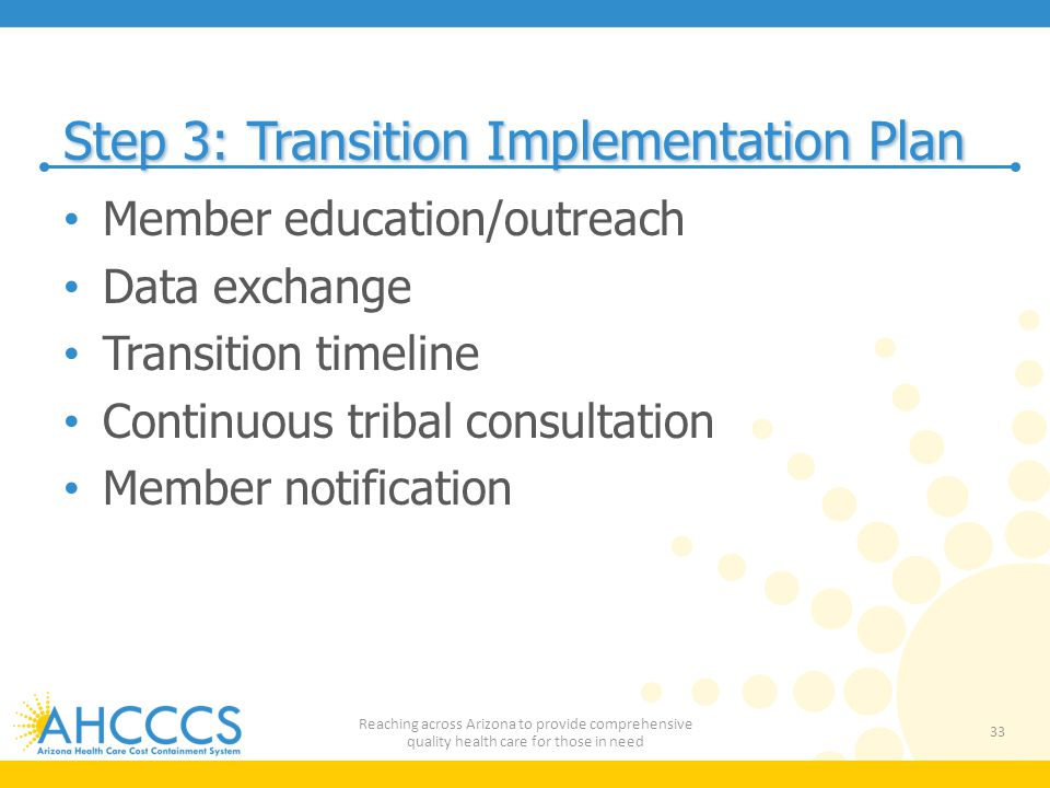 Step 3: Transition Implementation Plan