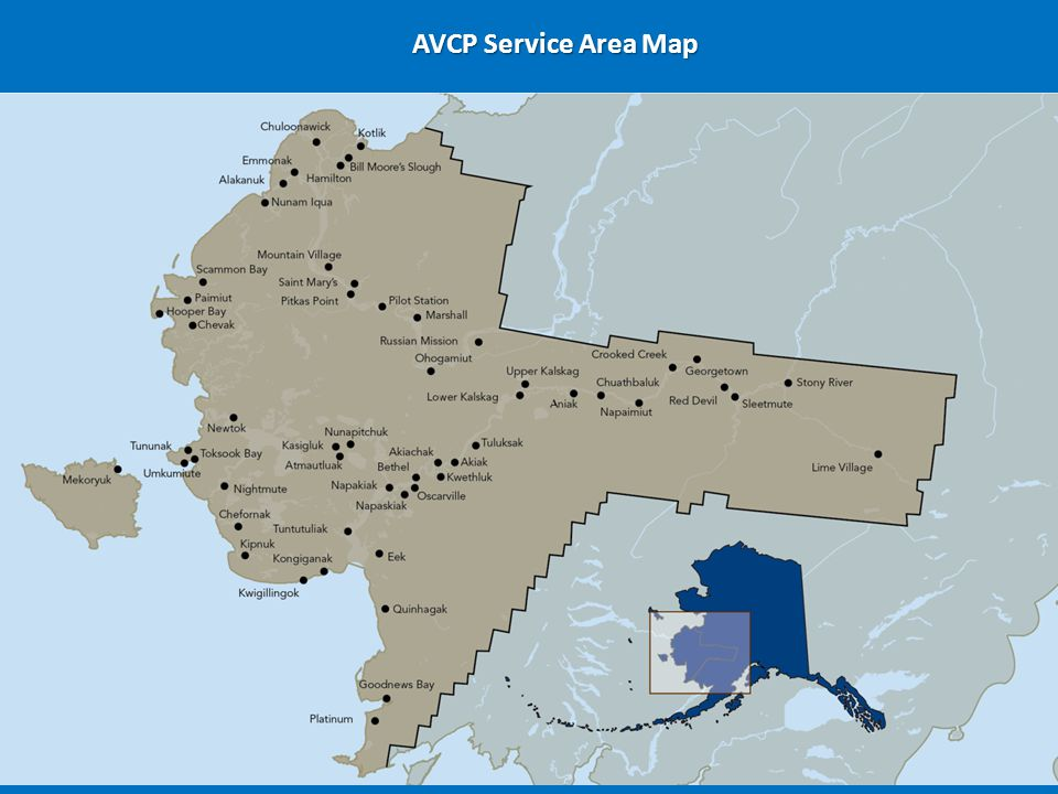 AVCP Service Area Map