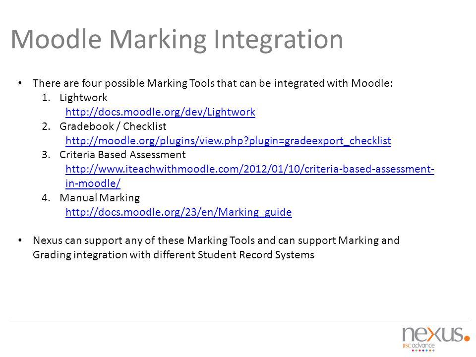 Moodle Marking Integration