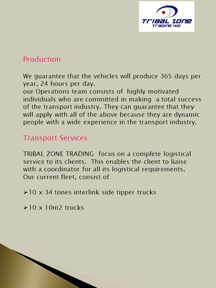 Production Transport Services