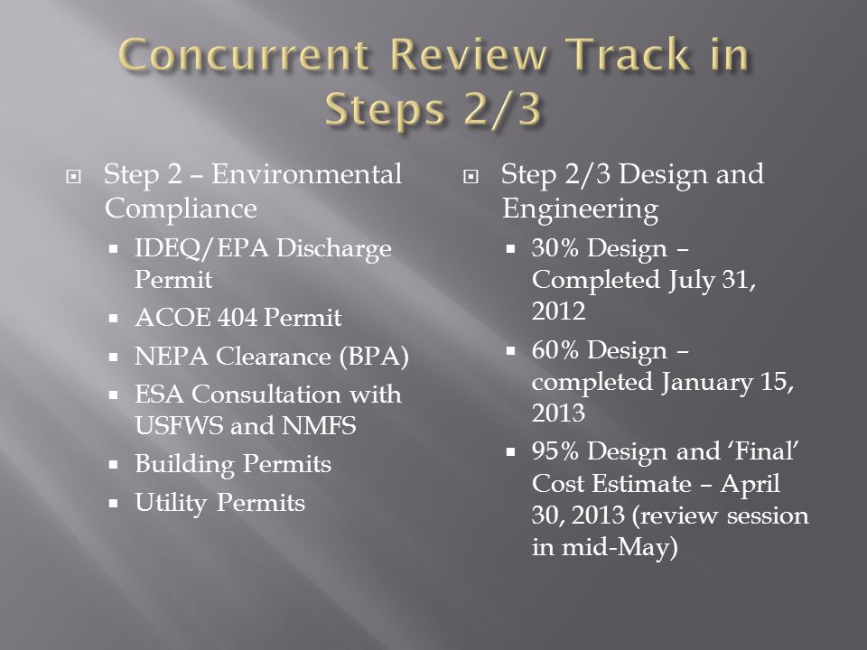 Concurrent Review Track in Steps 2/3