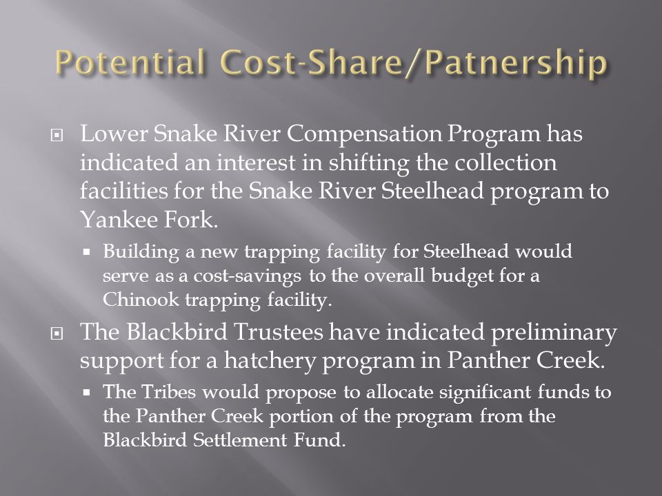 Potential Cost-Share/Patnership