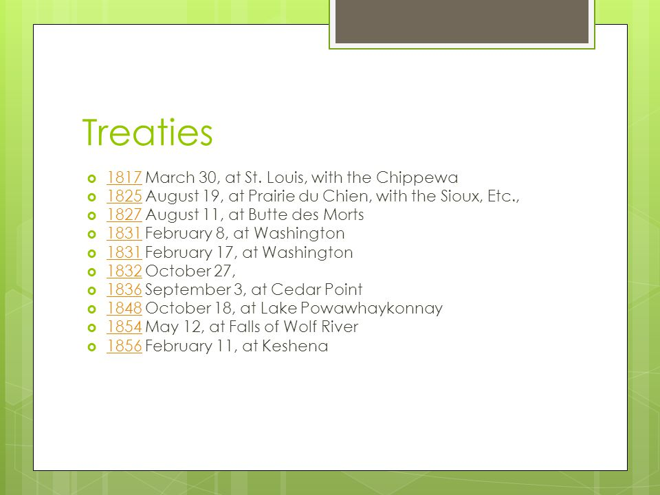 Treaties 1817 March 30, at St. Louis, with the Chippewa