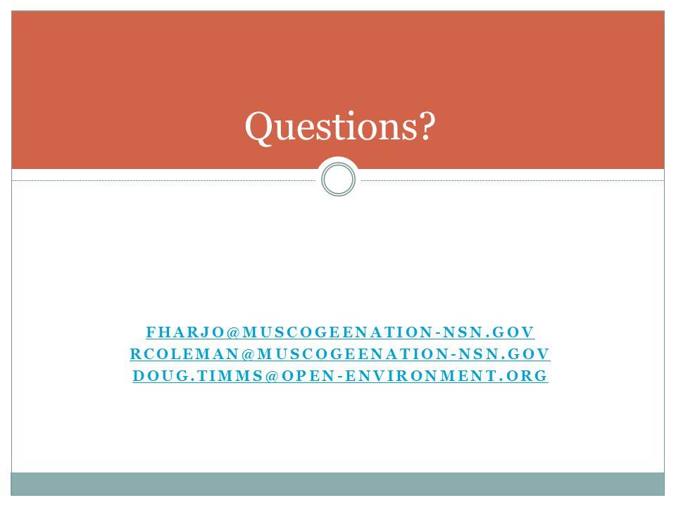 Questions fharjo@muscogeenation-nsn.gov