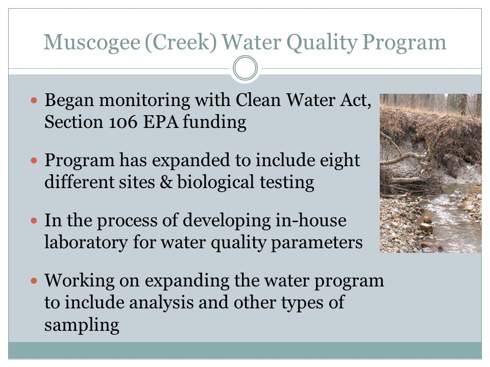 Muscogee (Creek) Water Quality Program
