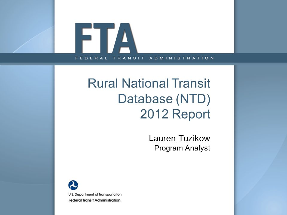 Rural National Transit Database (NTD)
