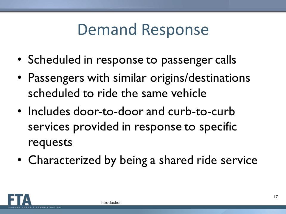 Demand Response Scheduled in response to passenger calls