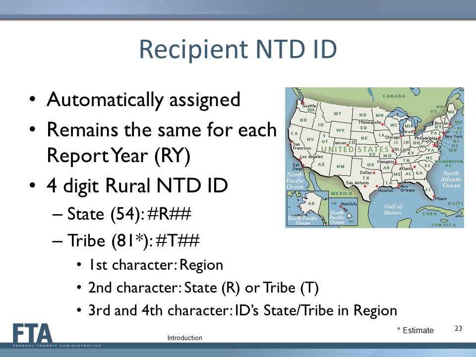 Recipient NTD ID Automatically assigned