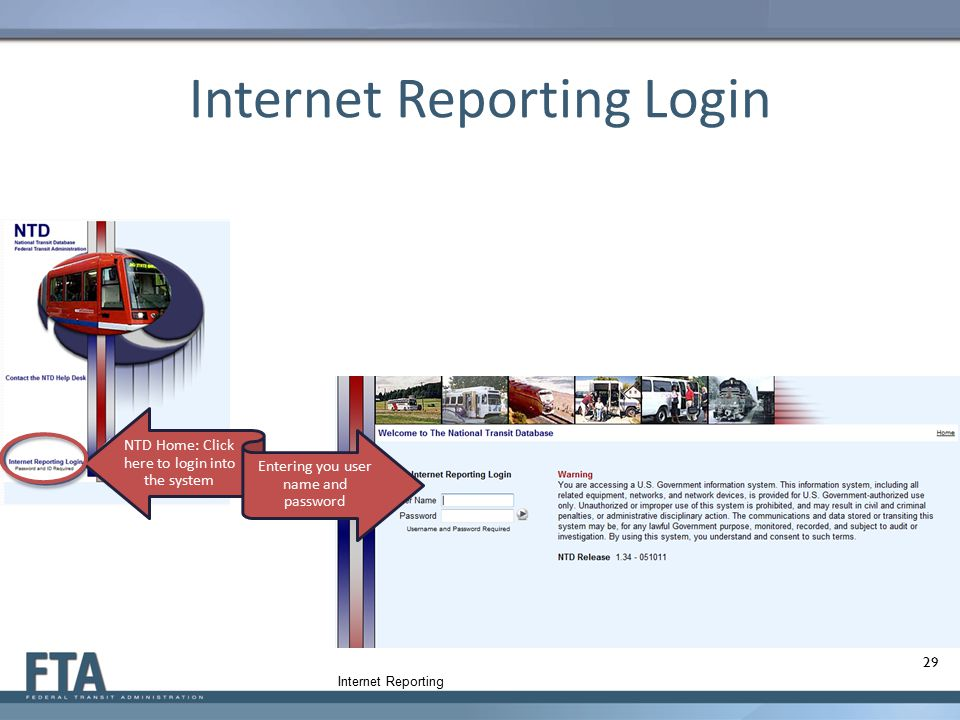 Internet Reporting Login