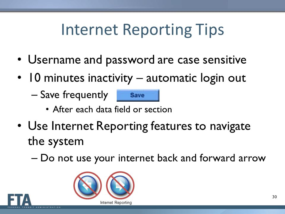 Internet Reporting Tips