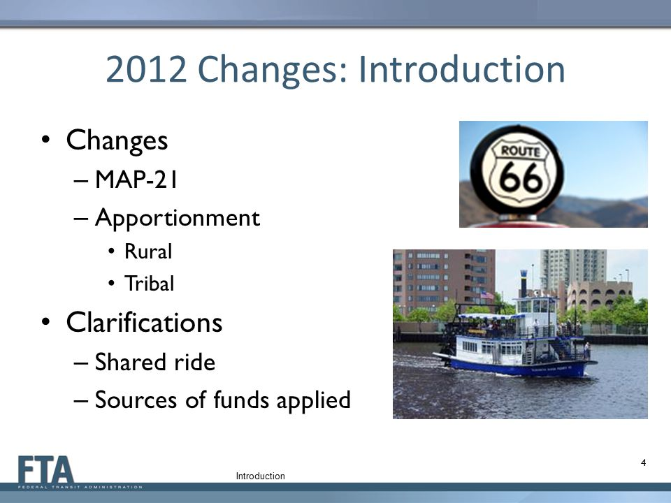 2012 Changes: Introduction
