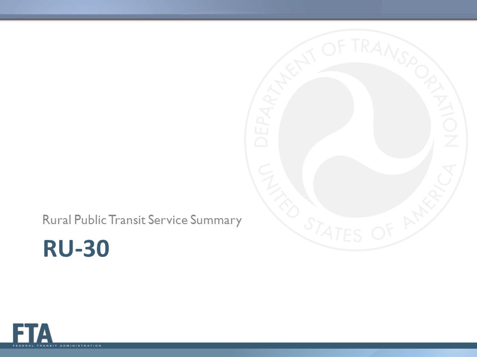 Rural Public Transit Service Summary