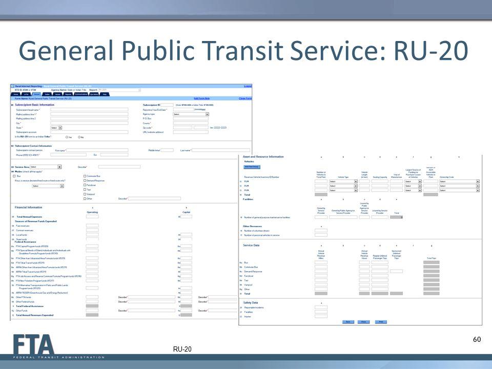 General Public Transit Service: RU-20