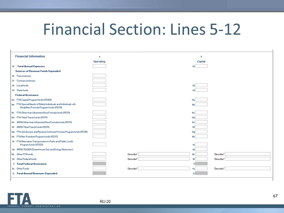 Financial Section: Lines 5-12