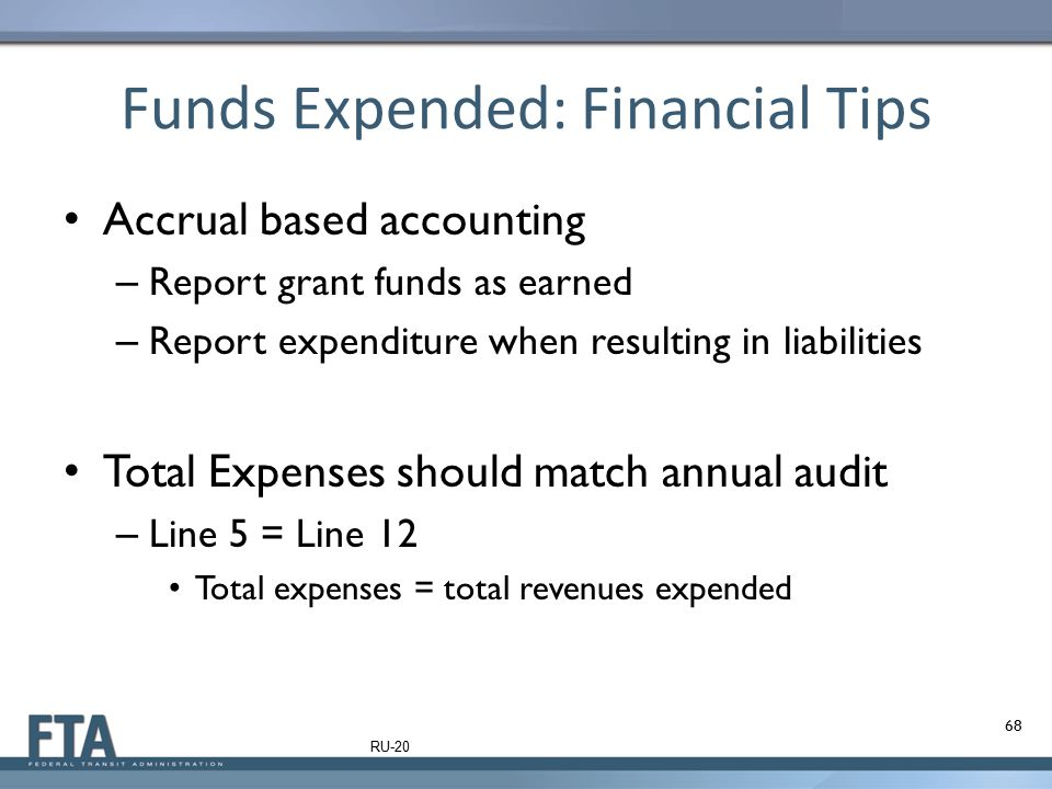 Funds Expended: Financial Tips