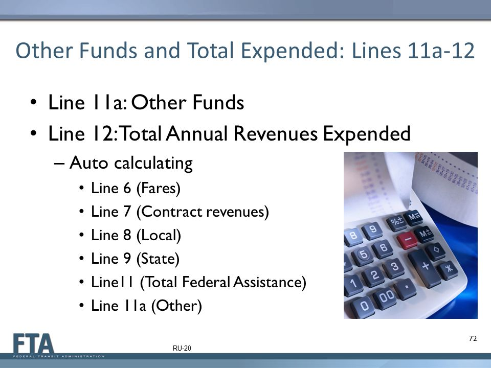 Other Funds and Total Expended: Lines 11a-12
