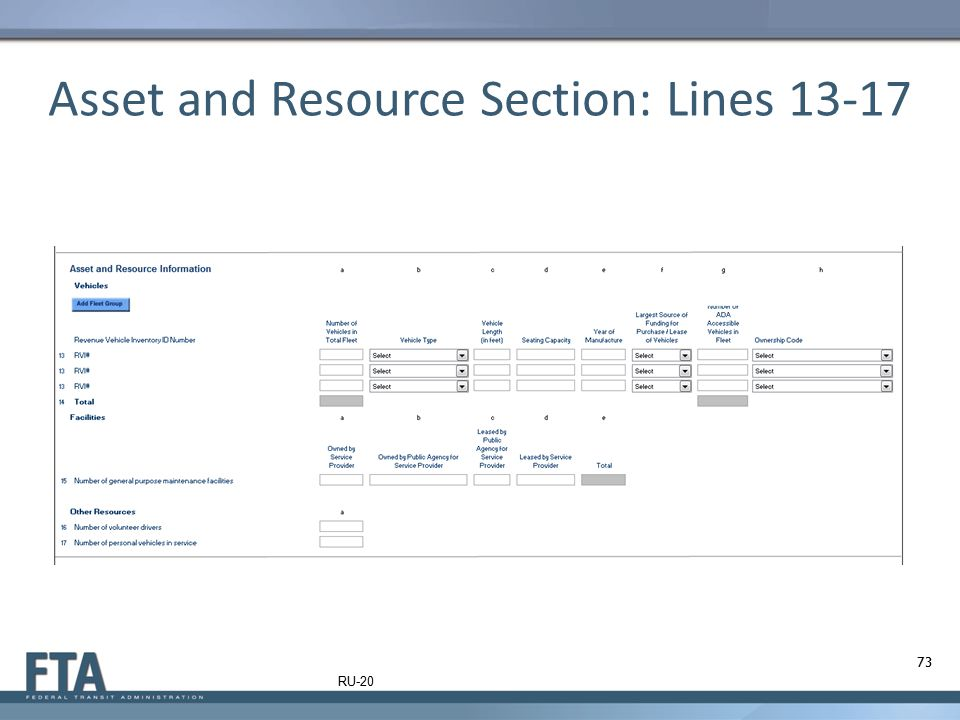 Asset and Resource Section: Lines 13-17