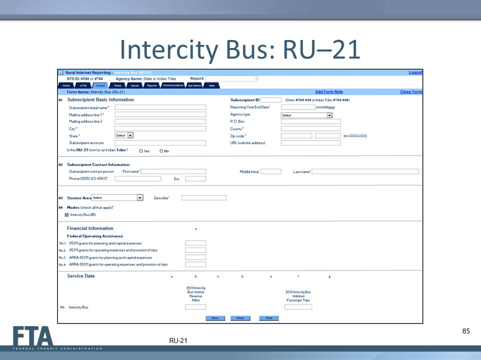 Intercity Bus: RU–21 RU-21