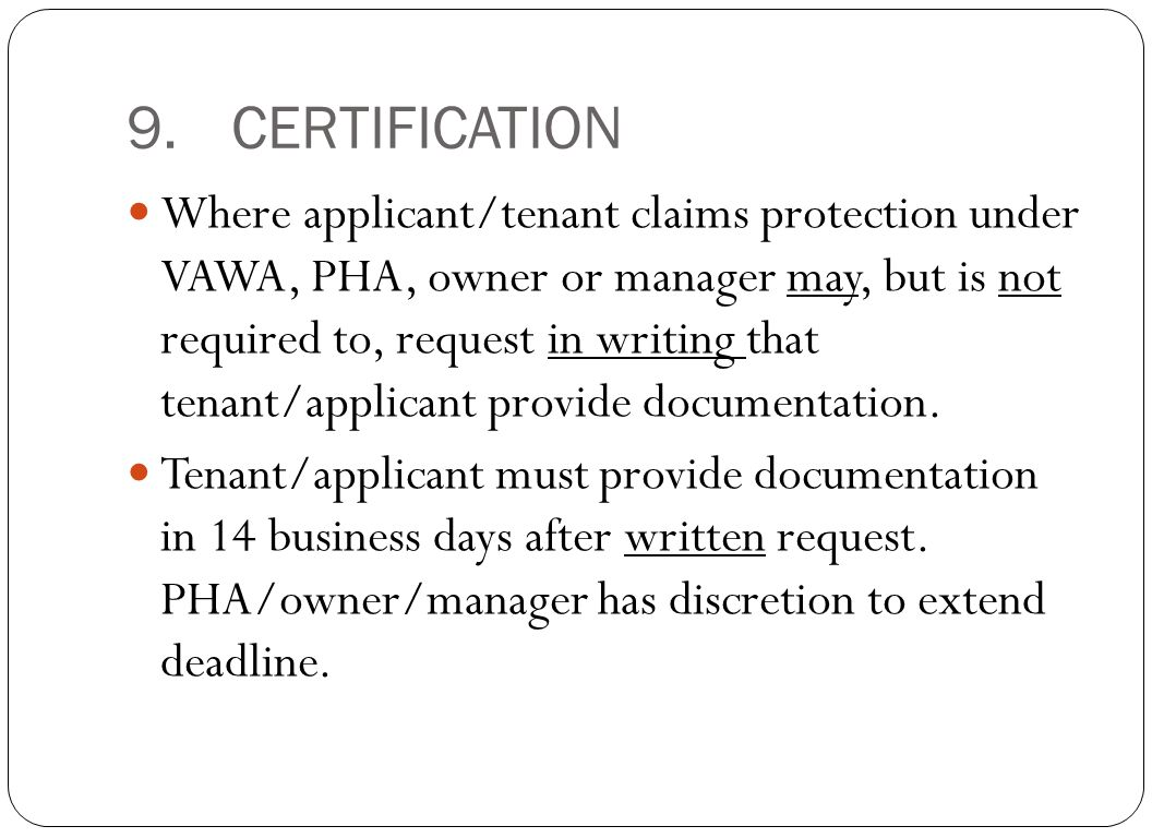 9. CERTIFICATION