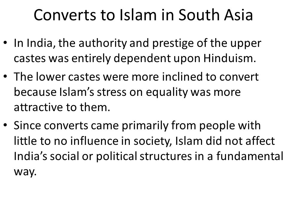 Converts to Islam in South Asia