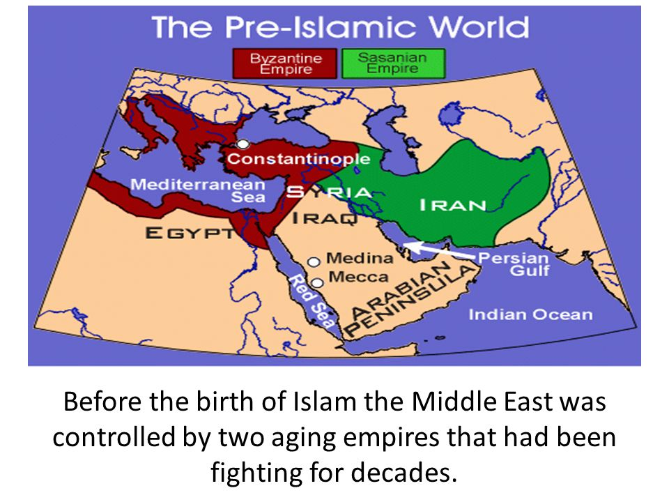 Before the birth of Islam the Middle East was controlled by two aging empires that had been fighting for decades.
