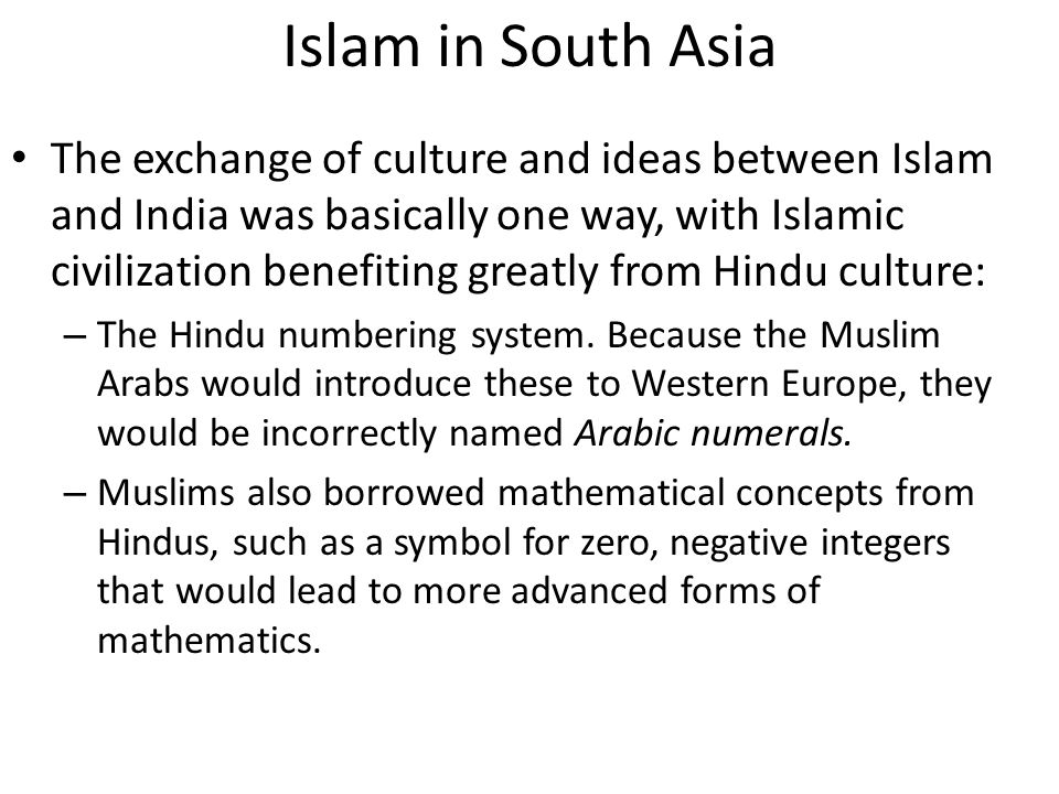 Islam in South Asia