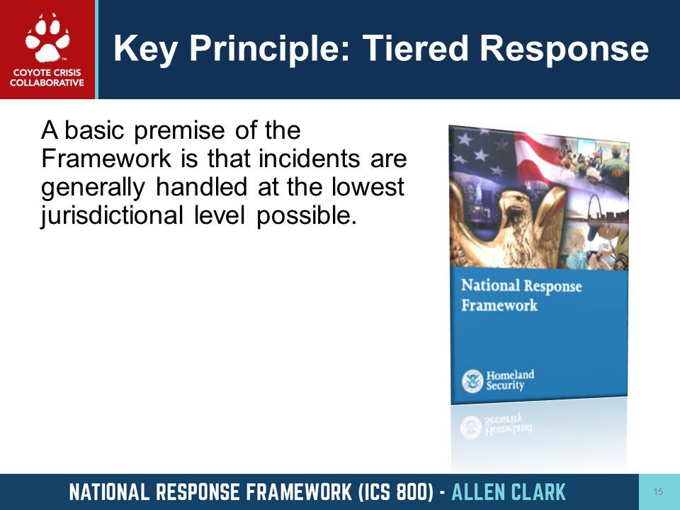 Key Principle: Tiered Response