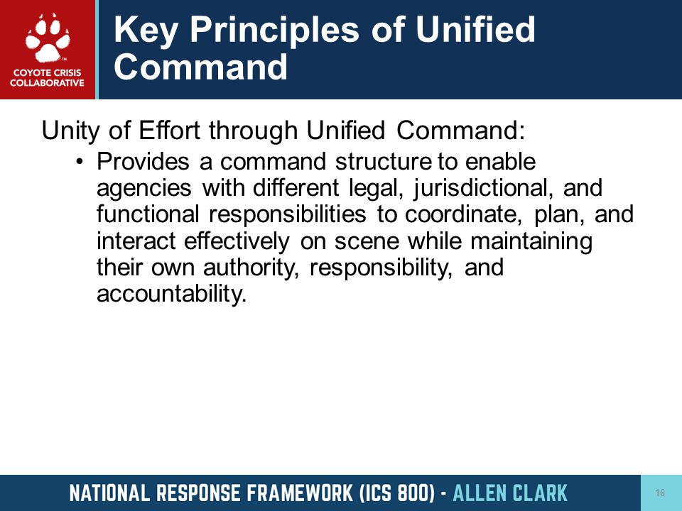 Key Principles of Unified Command