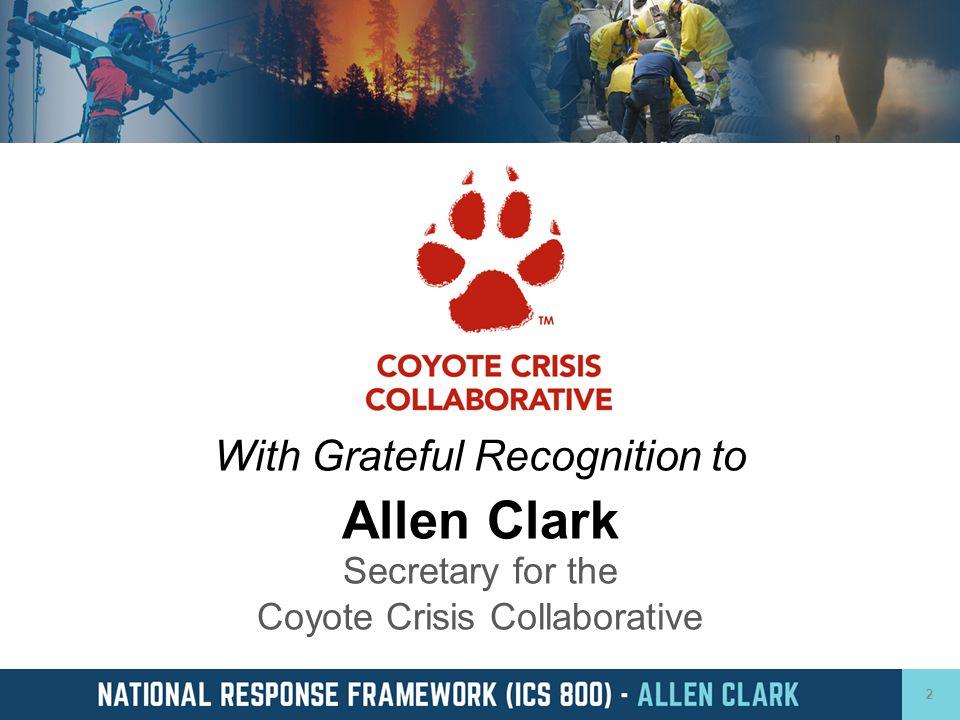 Allen Clark Secretary for the Coyote Crisis Collaborative
