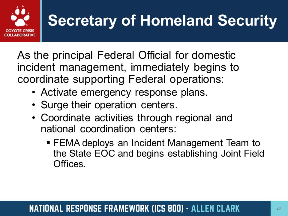 Secretary of Homeland Security