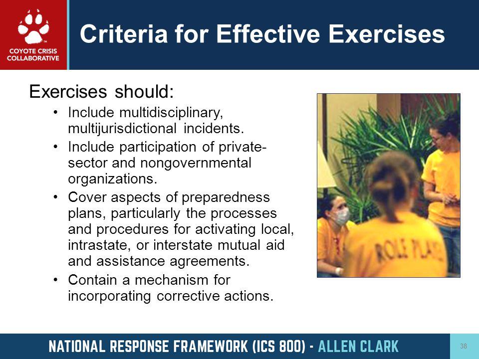 Criteria for Effective Exercises
