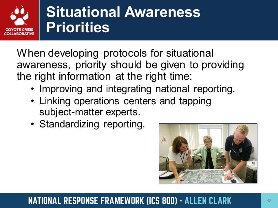 Situational Awareness Priorities