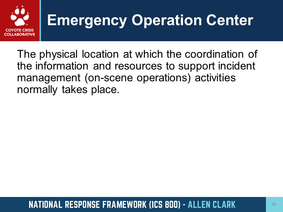 Emergency Operation Center