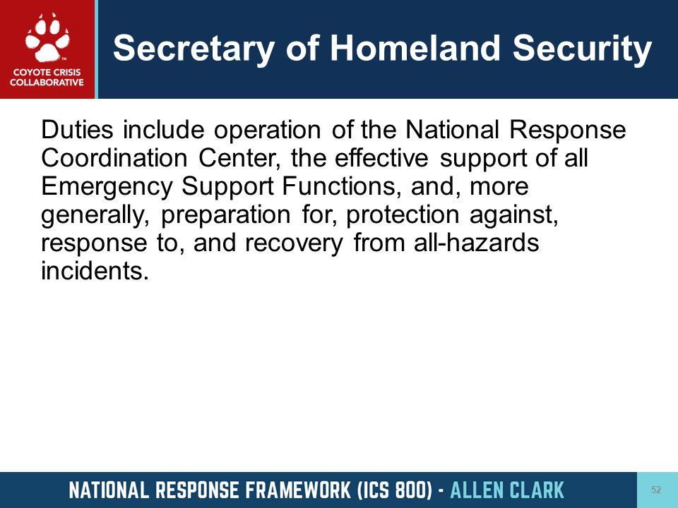 Secretary of Homeland Security