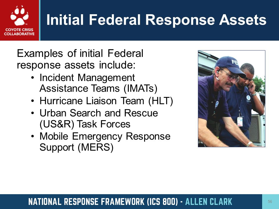 Initial Federal Response Assets