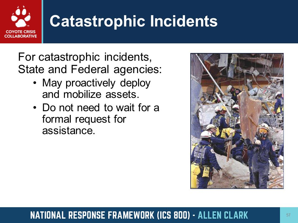 Catastrophic Incidents