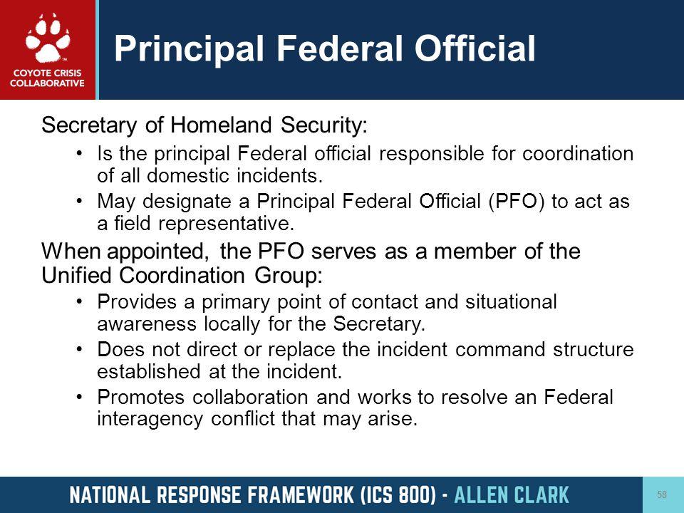 Principal Federal Official