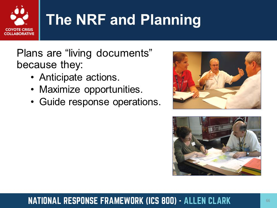 The NRF and Planning Plans are living documents because they: