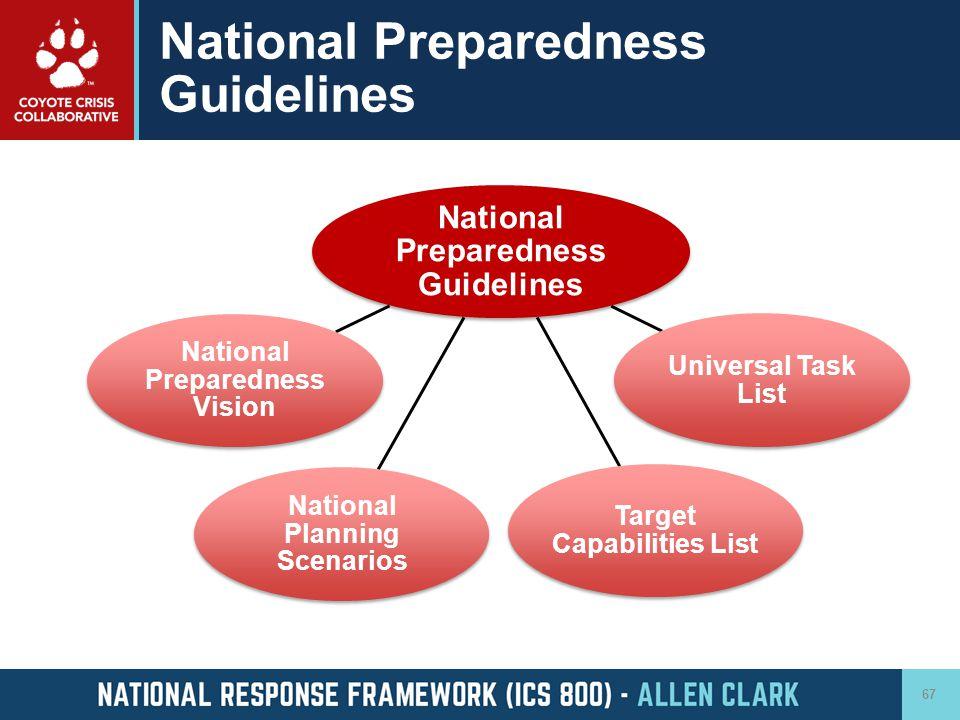 National Preparedness Guidelines