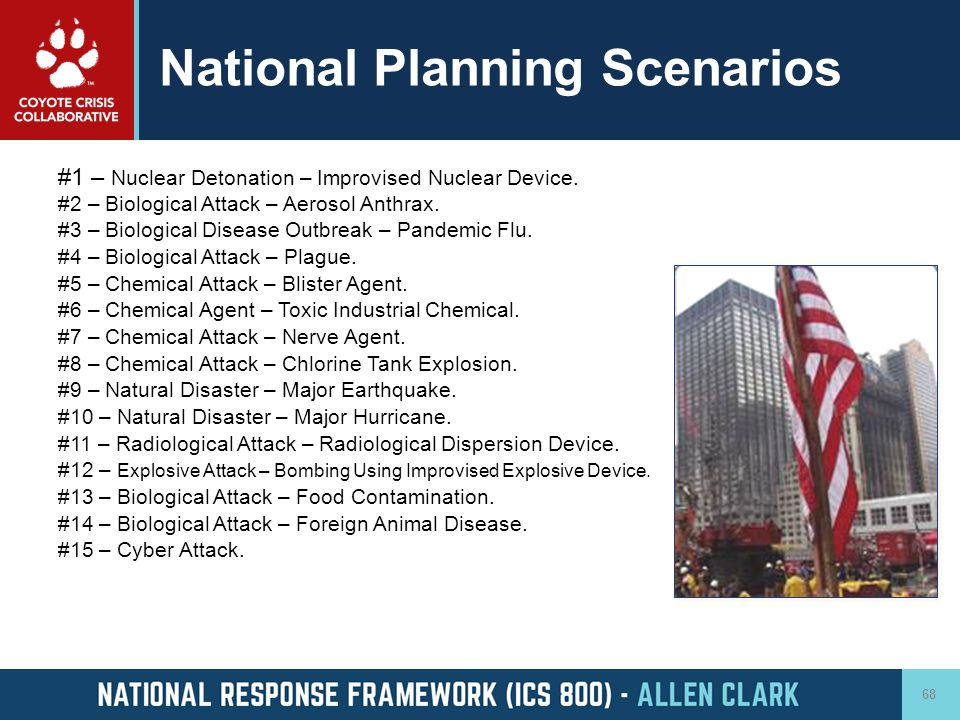 National Planning Scenarios