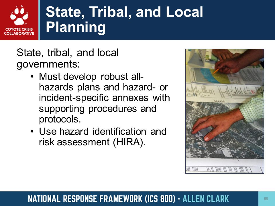 State, Tribal, and Local Planning