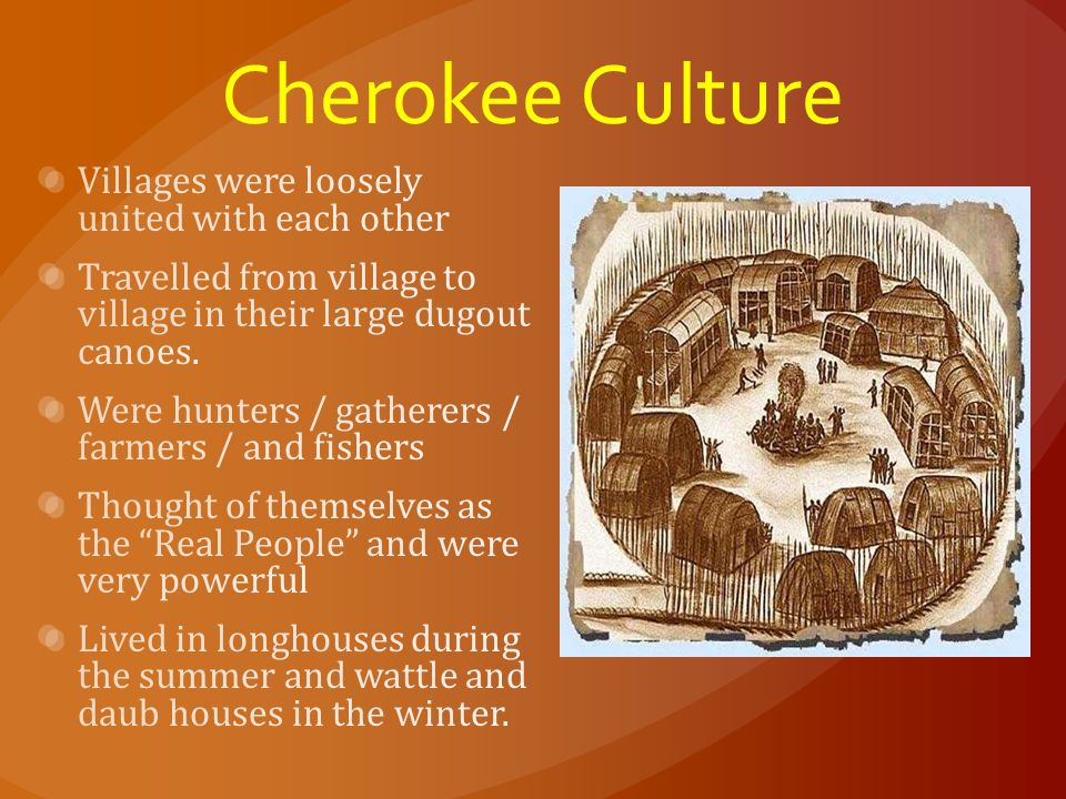 Cherokee Culture Villages were loosely united with each other